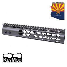 """10"""" AIR LITE KEYMOD FREE FLOATING HANDGUARD WITH MONOLITHIC TOP RAIL (O.D. GREEN)"""
