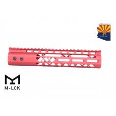 """10"""" AIR LITE M-LOK FREE FLOATING HANDGUARD WITH MONOLITHIC TOP RAIL (RED)"""