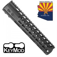 """10"""" ULTRA LIGHTWEIGHT THIN KEY MOD FREE FLOATING HANDGUARD WITH MONOLITHIC TOP RAIL"""