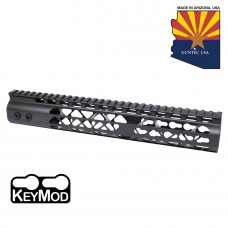 """12"""" AIR LITE KEYMOD FREE FLOATING HANDGUARD WITH MONOLITHIC TOP RAIL (O.D. GREEN)"""