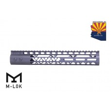 """12"""" AIR LITE M-LOK FREE FLOATING HANDGUARD WITH MONOLITHIC TOP RAIL"""