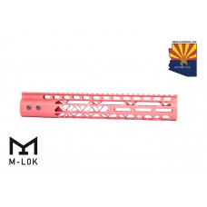 """12"""" AIR LITE M-LOK FREE FLOATING HANDGUARD WITH MONOLITHIC TOP RAIL (RED)"""