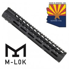 """12"""" ULTRA LIGHTWEIGHT THIN M-LOK SYSTEM FREE FLOATING HANDGUARD WITH MONOLITHIC TOP RAIL"""