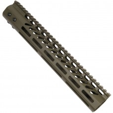 """12"""" ULTRA LIGHTWEIGHT THIN M-LOK SYSTEM FREE FLOATING HANDGUARD WITH MONOLITHIC TOP RAIL (OD GREEN)"""