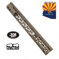 "15"" AIR LITE KEYMOD FREE FLOATING HANDGUARD WITH MONOLITHIC TOP RAIL (.308 CAL) (FLAT DARK EARTH)"