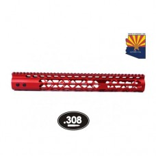 "15"" AIR LITE KEYMOD FREE FLOATING HANDGUARD WITH MONOLITHIC TOP RAIL (.308 CAL) (RED)"