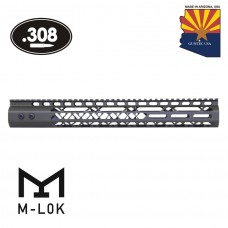 """15"""" AIR LITE SERIES M-LOK FREE FLOATING HANDGUARD WITH MONOLITHIC TOP RAIL (.308 CAL)(OD GREEN)"""