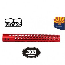 "15"" ULTRA LIGHTWEIGHT THIN KEY MOD FREE FLOATING HANDGUARD WITH MONOLITHIC TOP RAIL (.308 CAL) (RED)"