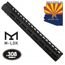 """15"""" ULTRA LIGHTWEIGHT THIN M-LOK SYSTEM FREE FLOATING HANDGUARD WITH MONOLITHIC TOP RAIL (.308 CAL)"""