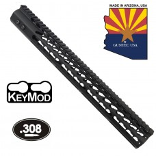 "16.5"" ULTRA LIGHTWEIGHT THIN KEY MOD FREE FLOATING HANDGUARD WITH MONOLITHIC TOP RAIL (.308 CAL)"