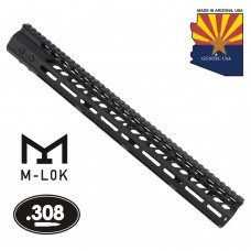 """16.5"""" ULTRA LIGHTWEIGHT THIN M-LOK FREE FLOATING HANDGUARD WITH MONOLITHIC TOP RAIL (.308 CAL)"""