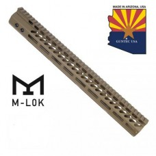 "16.5"" ULTRA LIGHTWEIGHT THIN M-LOK FREE FLOATING HANDGUARD WITH MONOLITHIC TOP RAIL (FLAT DARK EARTH)"