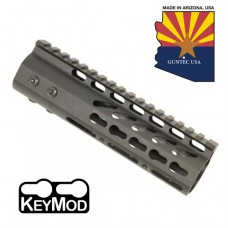 "6.75"" ULTRA LIGHTWEIGHT THIN KEY MOD FREE FLOATING HANDGUARD WITH MONOLITHIC TOP RAIL"