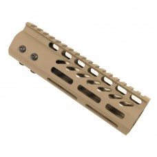 "7"" ULTRA LIGHTWEIGHT THIN M-LOK FREE FLOATING HANDGUARD WITH MONOLITHIC TOP RAIL (FLAT DARK EARTH)"