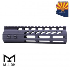 "7"" ULTRA SLIMLINE OCTAGONAL 5 SIDED M-LOK FREE FLOATING HANDGUARD WITH MONOLITHIC TOP RAIL"