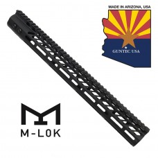 "16.5"" ULTRA LIGHTWEIGHT THIN M-LOK SYSTEM FREE FLOATING HANDGUARD WITH MONOLITHIC TOP RAIL"