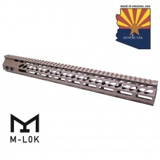 "16.5"" ULTRA SLIMLINE OCTAGONAL 5 SIDED M-LOK FREE FLOATING HANDGUARD WITH MONOLITHIC TOP RAIL (FLAT DARK EARTH)"