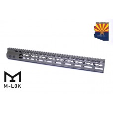 "16.5"" ULTRA SLIMLINE OCTAGONAL 5 SIDED M-LOK FREE FLOATING HANDGUARD WITH MONOLITHIC TOP RAIL (O.D. GREEN)"